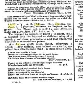 Double history. 1836 dictionary clip IMP