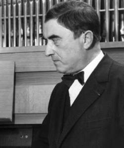 Maurice Durufle, in front of an organ, very much like all other organs.