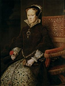 """Maria Tudor1"" by Antonis Mor - Museo del Prado Catalog no. P02108 [1]. Licensed under Public Domain via Wikimedia Commons - http://commons.wikimedia.org/wiki/File:Maria_Tudor1.jpg#mediaviewer/File:Maria_Tudor1.jpg"